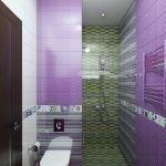 Сиреневый в дизайне ванной