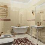 Вариант дизайна большой узкой ванной