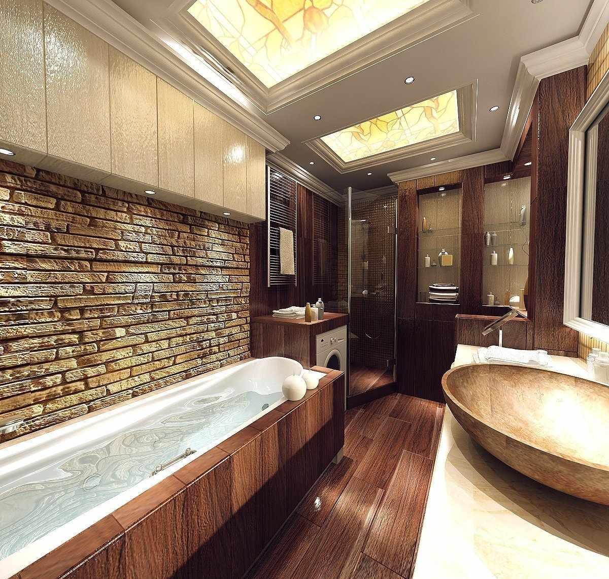 Ванная комната в стиле эко
