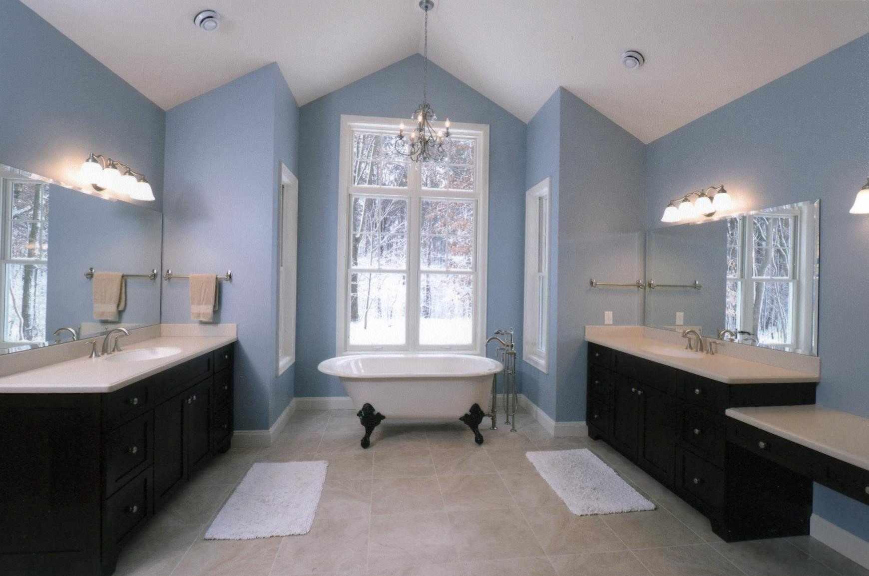 Ванная на мансардном этаже