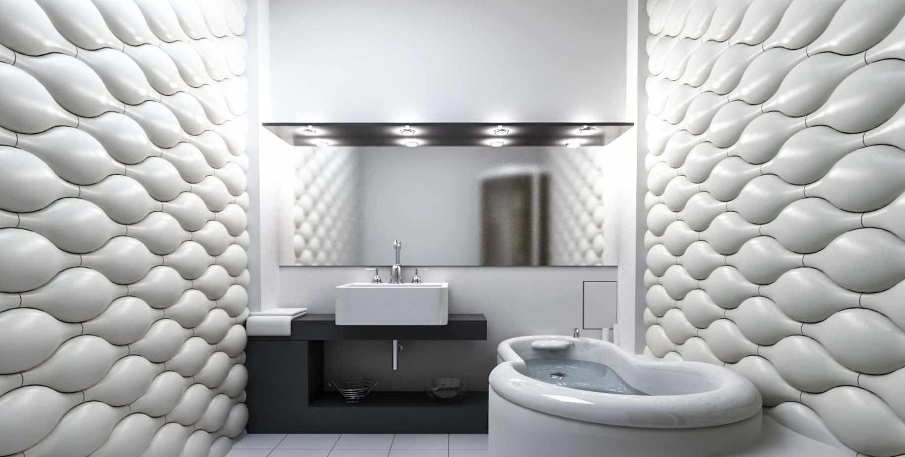 Декоративные панели в ванной