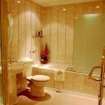 Отделка стен в ванной панелями