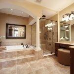 Оформление большой ванной комнаты
