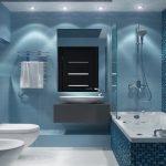 Серо-голубая ванная комната
