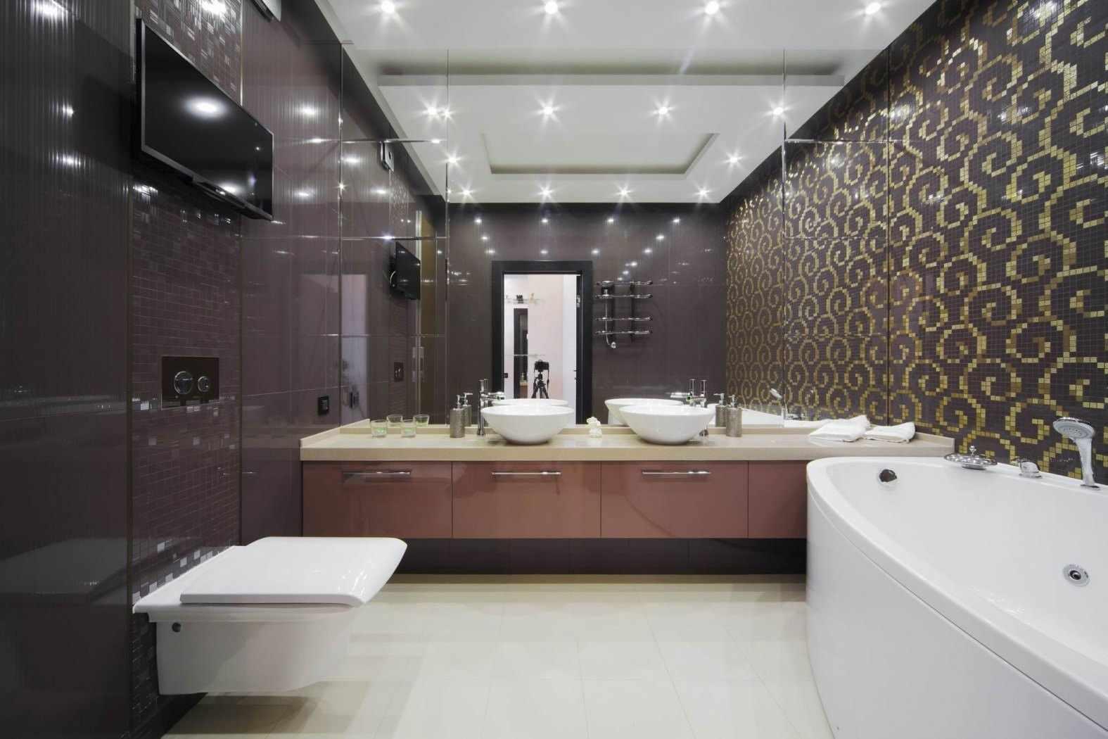 Точечная светодиодная подсветка в ванной