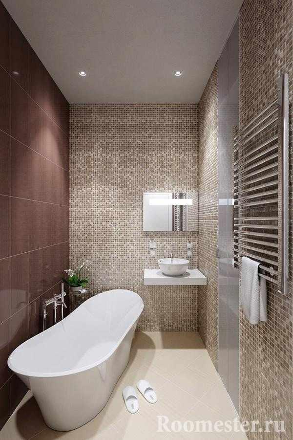 Ванная в оттенках коричневого