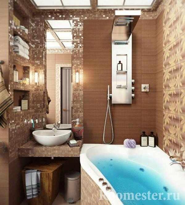 Душевая установка в ванной