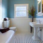 Голубой и белый цвета в интерьере