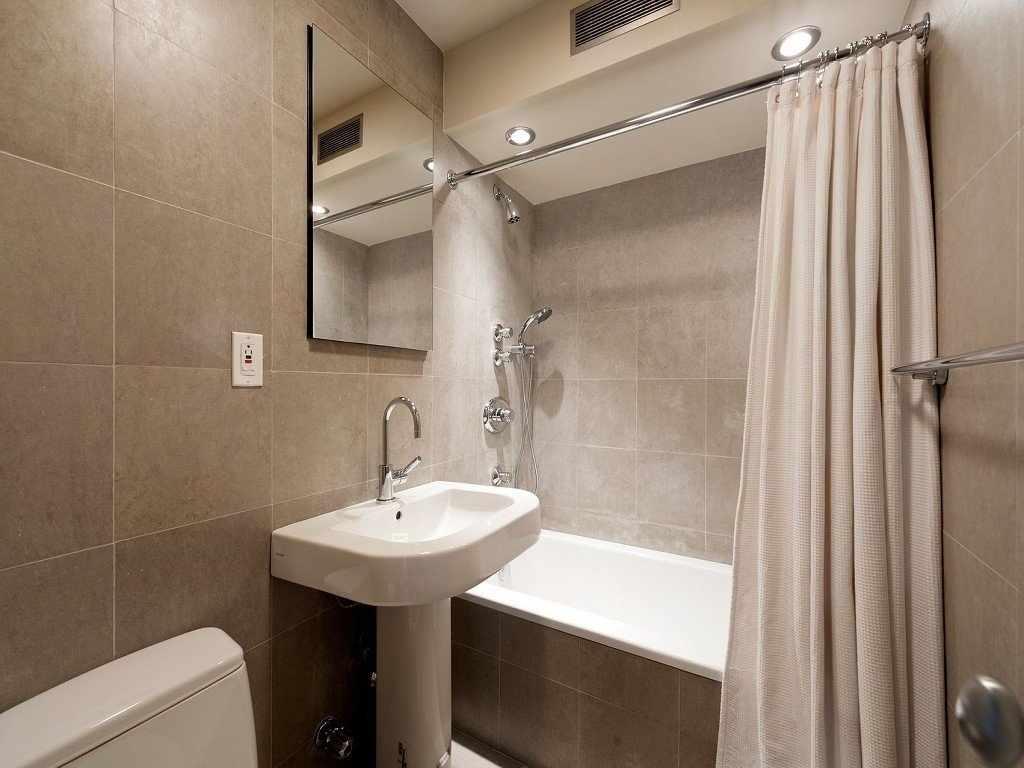 Встроенный душ в ванной
