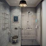 Стеклянный душ и туалет