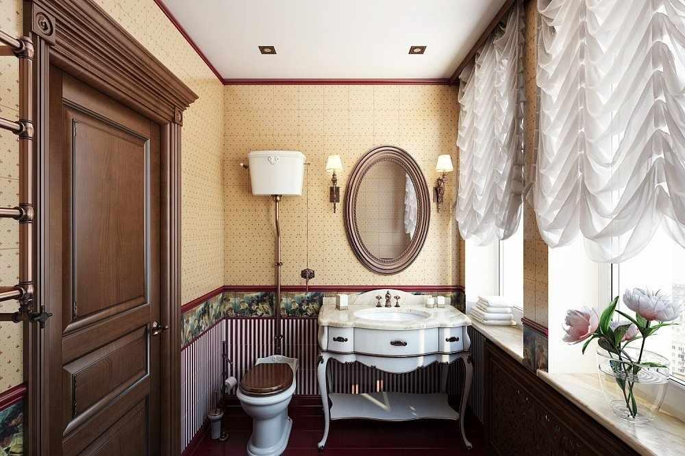 Интерьер ванной в стиле борокко