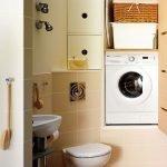Глубокая ниша для стиральной машинки