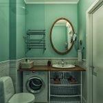Миниатюрная ванная со стиралкой