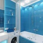 Синий декор ванной