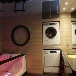 Ниша для стиральной машины в ванной