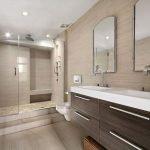 Бежевый декор ванной комнаты