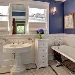 Синие стены в ванной