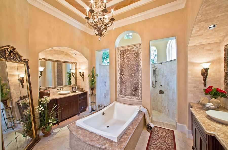 Ванная посередине комнаты