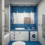 Сине-серая ванная