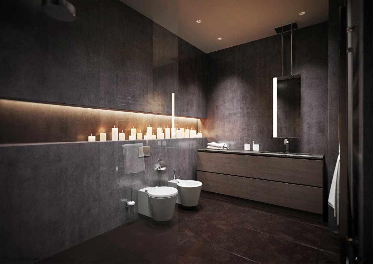 Свечи в интерьере ванной