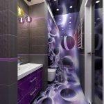 Фиолетовая плитка с рисунком