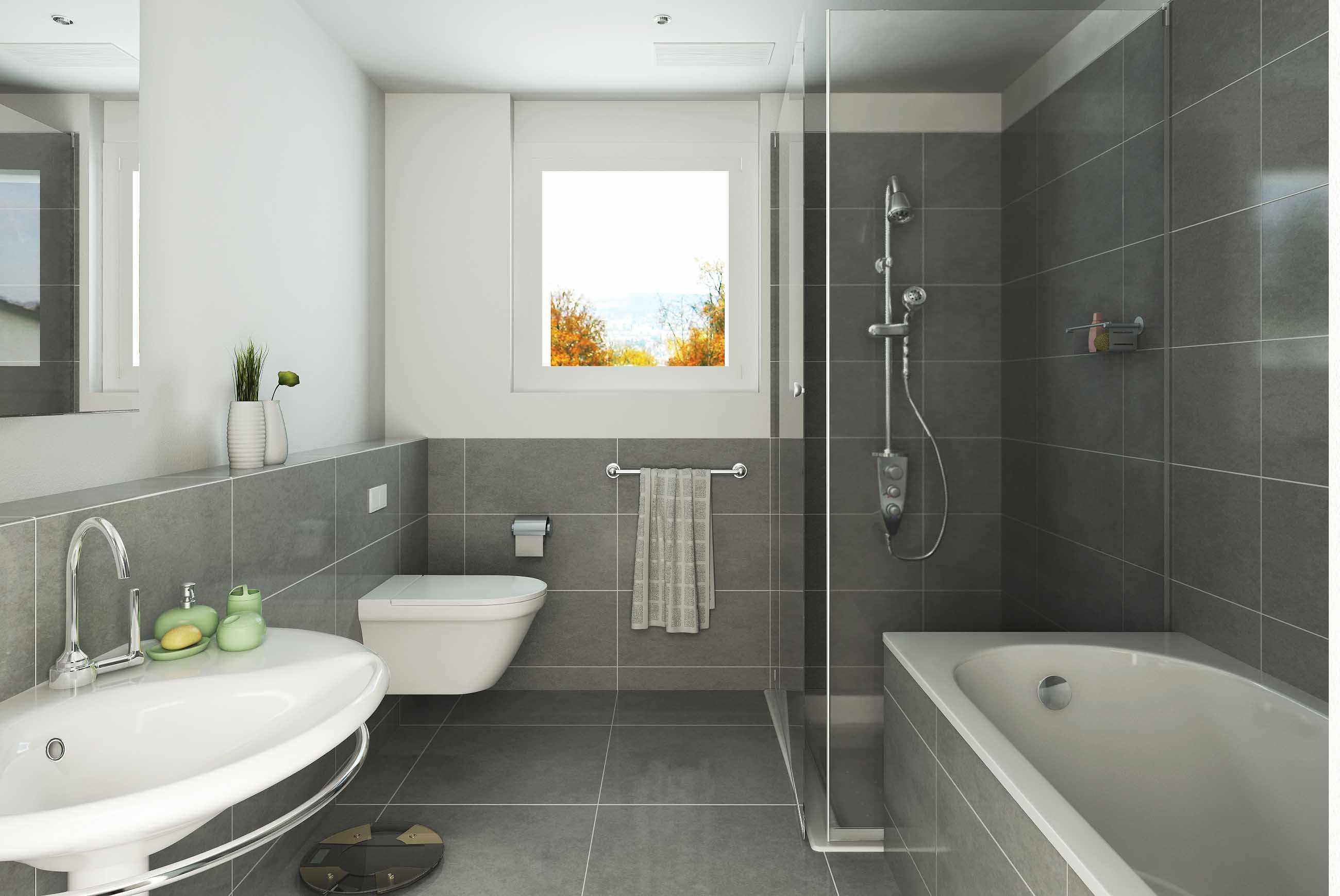 Ванная с небольшим окном