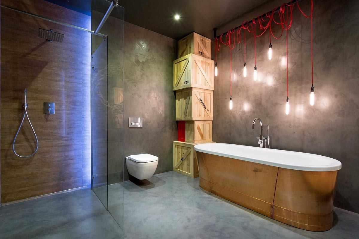 Стиль хай-тек в ванной комнате