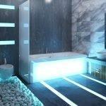 Современная подсветка в ванной