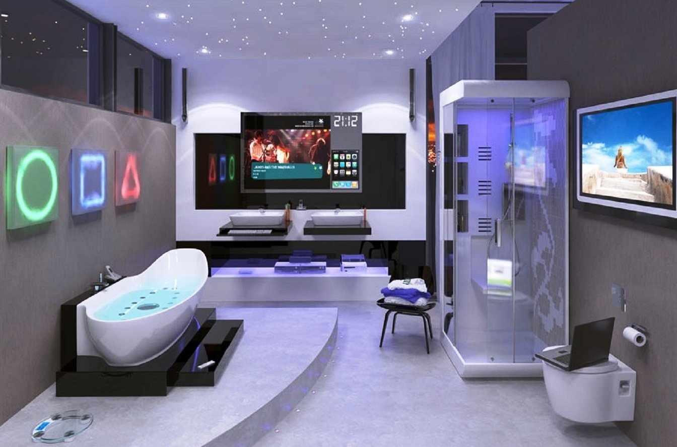 Высокие технологии в оформлении ванной