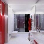 Красный банный халат