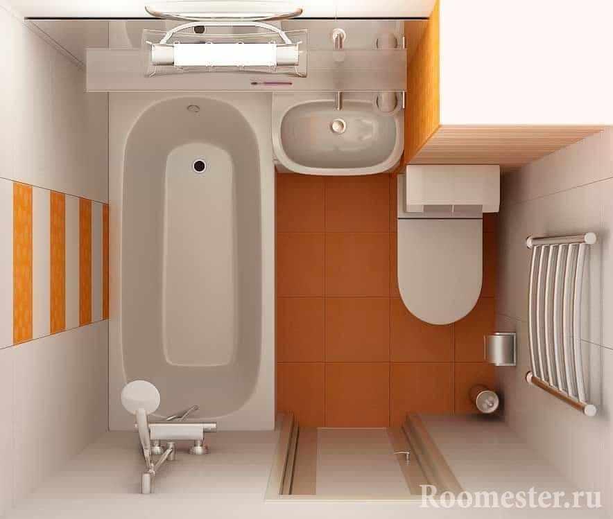 Цветовая гамма для отделки ванной комнаты в хрущевке