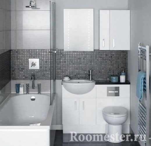 Компактная ванная комната в хрущевке