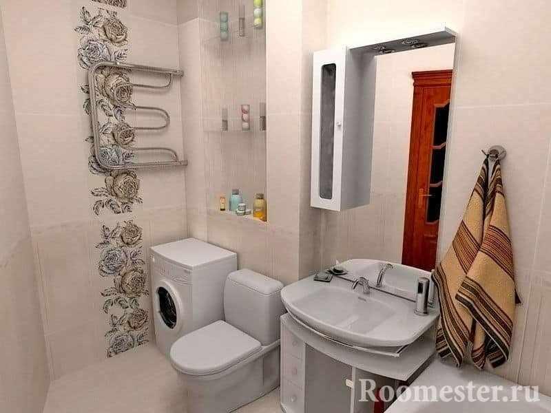 Полотенцесушитель в ванной комнате в панельном доме