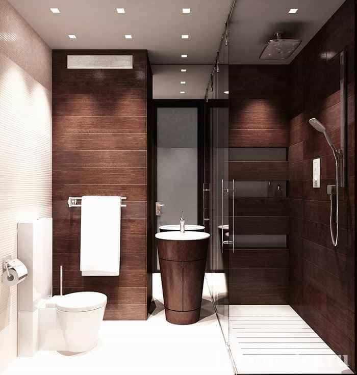 Дизайнерский ремонт ванной комнаты в панельном доме