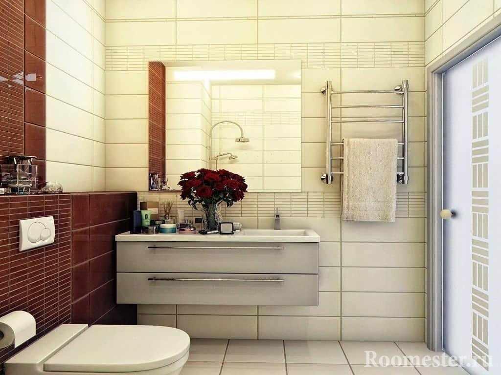 Комбинация цвета в ванной комнате в панельном доме