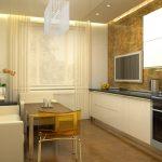 Прозрачный стул на кухне