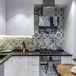 Оригинальная плитка на кухне
