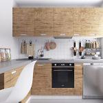 Кухонная мебель с декором под дерево