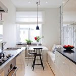 Столовая и кухня в одной комнате