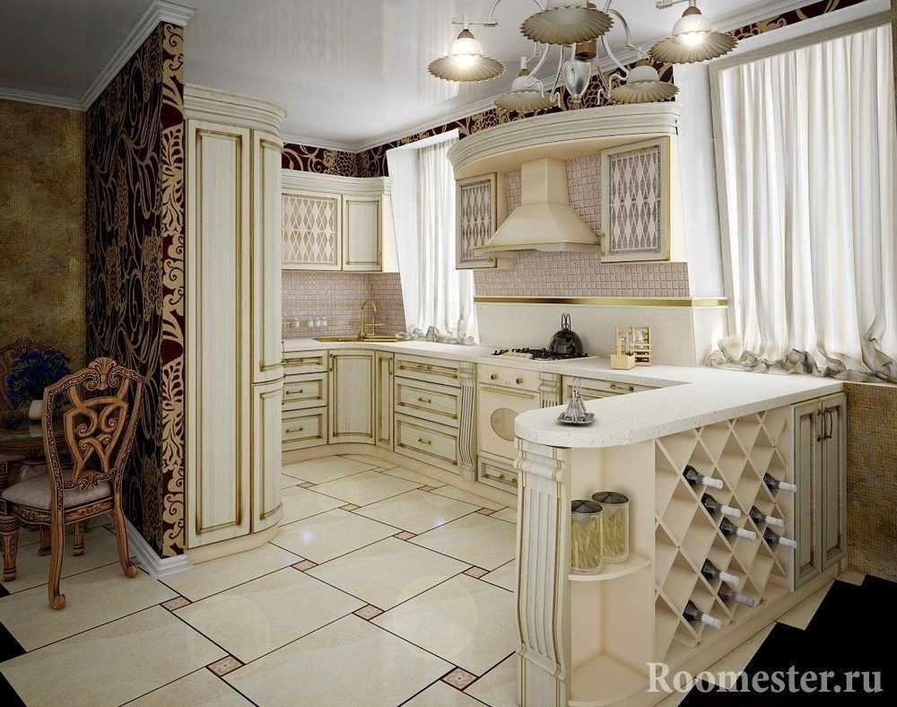 Шикарная мебель на кухне