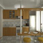 Серебристый холодильник на кухне
