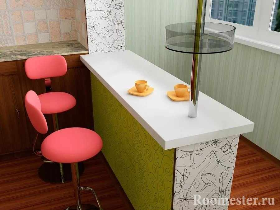 Оранжевые чашки на белой стойке