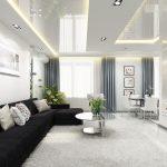 Светлый интерьер гостиной