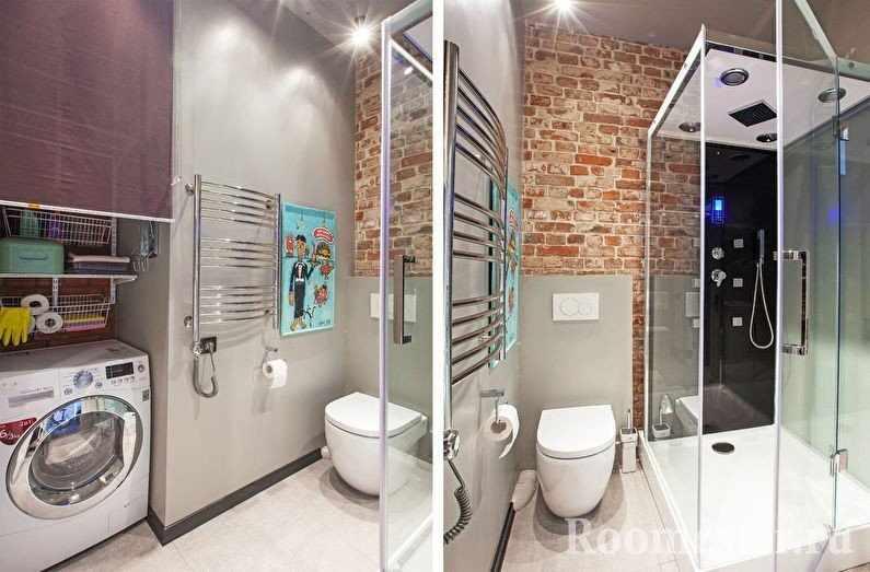Сушилка на стене в ванной
