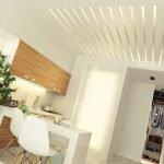 Необычная идея освещения зоны гостиной
