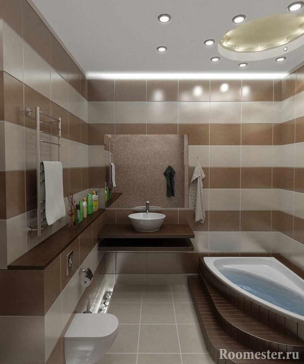 Интересный потолок в ванной