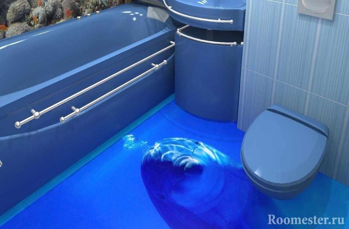 Дельфин на полу