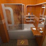 Оригинальная полка в ванной