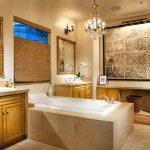 Картина с подсветкой в ванной