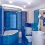 Голубой дизайн ванной